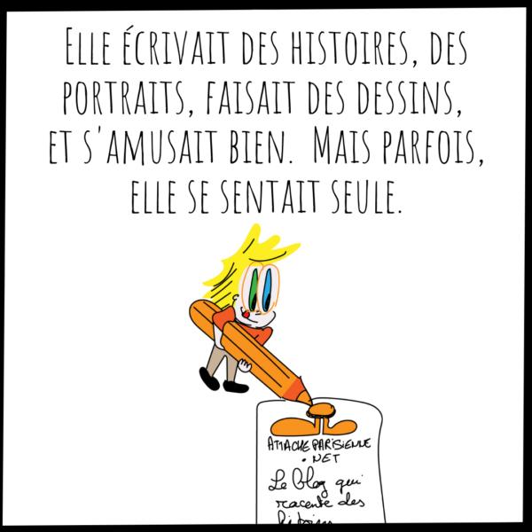 L'écriture du blog d'Attache Parisienne
