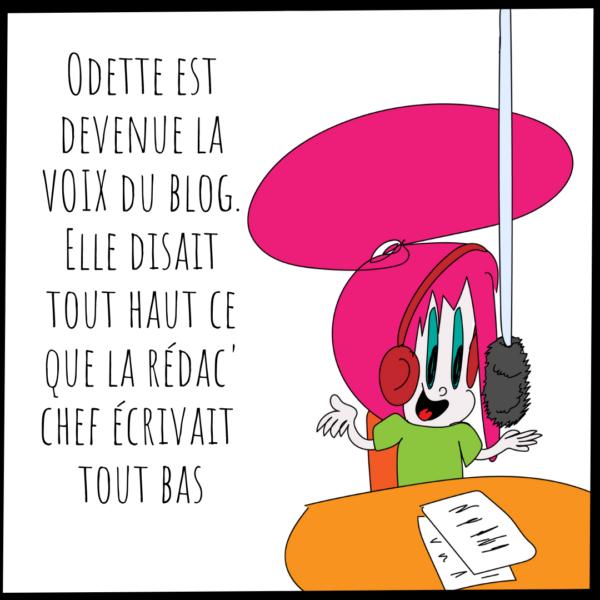 Odette la voix du blog Attache Parisienne